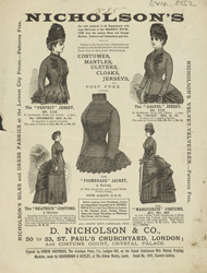 Advertisement for D Nicholson & Co, drapers